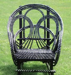 around the bend willow furniture :: Striped Chair :: Seating