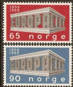 Norway 1969 Europa Stamps.