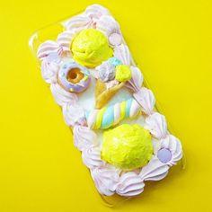 My favourite colour is yellow. #yellow #cabochon #decoden #polymerclaycharm #polymerclay #royalicing #marshmallow #cuteart #icecream #marshmallow #foodart #sweetlolita #donut #rainbow #whimsical #スイーツデコ #cakedecorating #sweetsdeco #phonecase #kawaiiart #cookies #clayart #chibi #miniatures #pastelfood #cutefood #foodiegram #birthdayparty #icing #foodporn