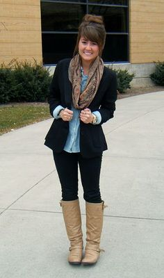 business casual for women with boots - Google Search
