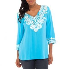 Pretty Embroidered Tunic ~ Love this color!
