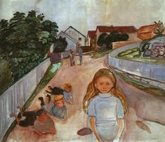 Street in Asgardstrand, 1902, Edvard Munch Size: 74.5x89 cm Medium: oil on canvas