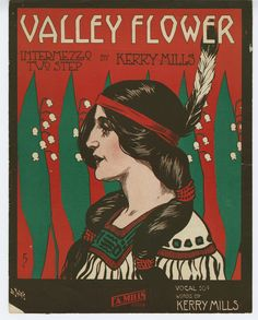 """""""Valley Flower"""" ~ Vintage sheet music cover."""
