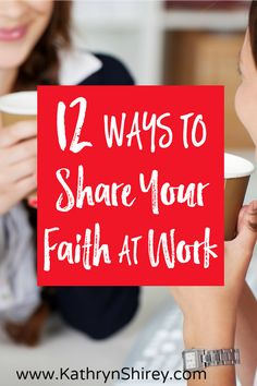 Ever feel like topics of faith are off-limits at work? Do you feel uncomfortable talking faith at the office? Try one (or more) of these 12 ideas to share your faith at work.