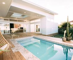 Home refurbishment can completely give a facelift to an otherwise old-looking house. Best Secrets Home Renovation Remodel Your Living Space Ideas. Outdoor Spaces, Outdoor Living, Outdoor Pool Areas, Outdoor Decor, Living Pool, Living Fence, Backyard Beach, Home Modern, Pool Fence