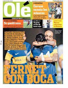 Domingo 23 de Abril de 2012. http://www.ole.com.ar/la-tapa/