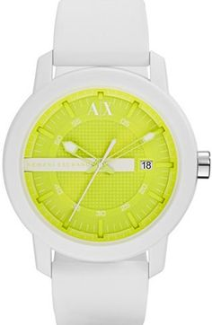 T4=Colorflash Neon Yellow Watch - Accessories Shop - Mens - Armani Exchange