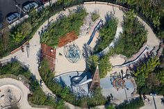 Pier 6 Playground, Michael van Valkenburgh and Associates, NYC, 2010 | Playscapes