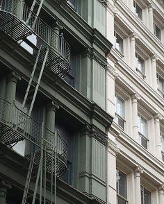SoHo buildings, New York City. By Francois Aubret on Instagram #newyork #nyc #soho #architecture