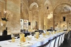 The best restaurants in Puglia   Telegraph Travel Creative Desserts, Italy Holidays, Tasting Menu, Southern Italy, Contemporary Decor, Gourmet Recipes, Table Settings, Indoor, Dining