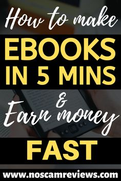 Discover a way to start making ebooks in just 5 minutes and then making money for years and years to come. You can start making passive income with super professional looking ebooks without doing much yourself.