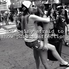 Not afraid just never aloud lol #lesbian #love #kiss