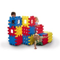 Big Waffle® BlocksItem: 619137The perfect combination of a construction set and building blocks! These snap-together oversize blocks are perfect for building a fort, castle and anything else imaginations can create. Use them inside or out. The unique waffle design lets kids put them together and take them apart over and over!