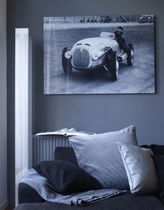 Large photograph in the living room