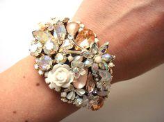 Bridal bracelet and bridesmaids bracelets set  by OOAKjewelz, €245.00