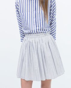 ZARA - NEW THIS WEEK - STRIPED SHORT SKIRT