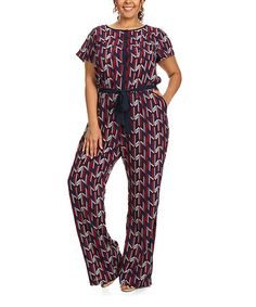 Another great find on #zulily! Navy Button-Up Jumpsuit - Plus #zulilyfinds