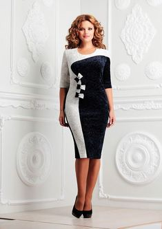 Нарядное комбинированное платье.
