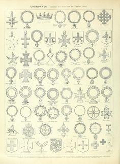 Nouveau Larousse illustré : Couronnes (Colliers Et Insignes De Chevalerie)