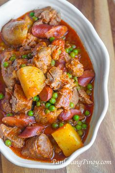Share Tweet + 1 Mail This tasty Pork Afritada is my third version of pork afritada that I am sharing with you. Since you ...