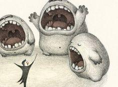 Illustration by Charles Santoso Illustration Mignonne, Gravure Illustration, Monster Illustration, Children's Book Illustration, Illustration Design Graphique, Art Mignon, Cute Monsters, Art Design, Mixed Media Art