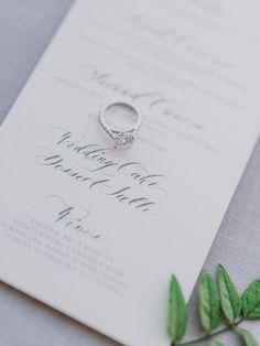 Calligraphy: http://senimancalligraphy.com   Photography: http://www.gianlucaadovasio.it/   Wedding dress: http://moniquelhuillier.com   Read More: https://www.stylemepretty.com/vault/image/6707817
