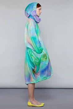 issey miyake | technicolour raincoat