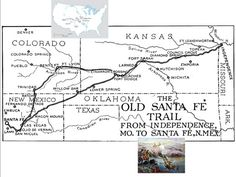 18 Best Maps of the Santa Fe Trail images