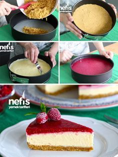 A Delicious Recommendation for Your Weekend Try Uncooked Cheesecake Recipe by Elif Atalar ? Ingredients Cheesecake Base A Delicious Recommendation for Your Weekend Try Uncooked Cheesecake Recipe by Elif Atalar ? Ingredients For Cheesecake, Perfect Cheesecake Recipe, Baked Cheesecake Recipe, Best Cheesecake, Recipe Ingredients, Yummy Recipes, Easy Cake Recipes, Yummy Food, Homemade Desserts