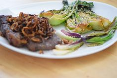 von kuechenereignisse.com  Steak und Pak Choi