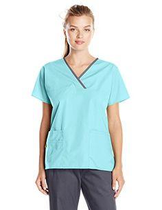 WonderWink Women's Scrubs Charlie 5 Pocket Y-Neck Wrap Top