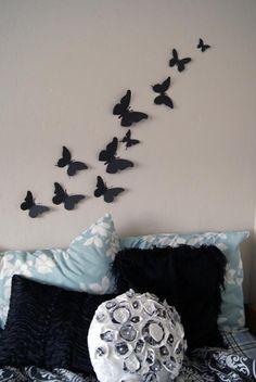 Magiczne ozdoby w kształcie motyli na ścianę