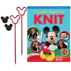 Kids I Taught Myself To Knit Disney Mickey Mouse and Friends Beginners Knitting