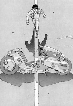 Katsuhiro Otomo's AKIRA!  The iconic view.