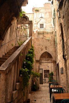 The beautiful Old Town in Split, Croatia