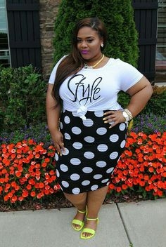 Pin on Plus Size Spring Looks Look Plus Size, Dress Plus Size, Curvy Plus Size, Plus Size Fashion For Women, Plus Size Women, Plus Fashion, Fashion Tips, Curvy Women Fashion, Look Fashion