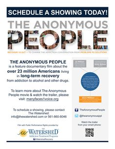 First showing of The Anonymous People at the Watershed Halfway House was a huge success!
