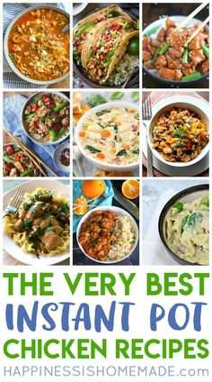The BEST Instant Pot Chicken Recipes! These yummy pressure cooker chicken recipes are family-approved and perfect for busy parents! - Happiness Is Homemade Pressure Cooker Chicken, Pressure Cooker Recipes, Pressure Cooking, Easy Dinner Recipes, Easy Meals, Delicious Recipes, Best Comfort Food, Comfort Foods, Homemade Jelly