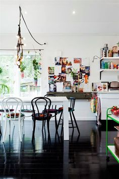 Contrast Chic: 7 Rooms that Prove Black Floors are the Right Choice