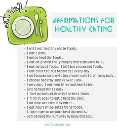 Affirmations for Eating Healthy & Eating Well