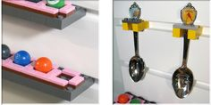 Display your spoon collection. Display your marble collection. Use your LEGO bricks and plates with BRICK RACK. Spoon Collection, Display Panel, Glass Figurines, Shot Glasses, Lego Brick, Bricks, Marble, Plates, Shot Glasses Display
