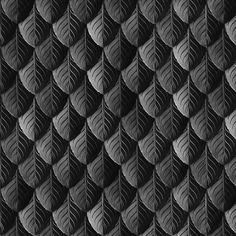 fabric, upholstery, patterns, quilting fabric, wrapping paper - Feather Leaf Armor Black fabric by wickedrefined on Spoonflower -