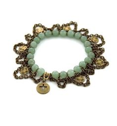 Jewelry Project from Michaels! Amulet Jade Stretchy Bracelet.