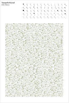 Tipografía Musical by Esther Montero
