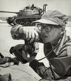Dickey Chapelle (1919-1965) was one of the first female war correspondents, covering World War II, the Korean conflict and Vietnam.    On the morning of November 4, 1965, Chapelle was killed by a land mine while on patrol with a platoon, becoming the first war correspondent killed in Vietnam and the first female correspondent killed in action.
