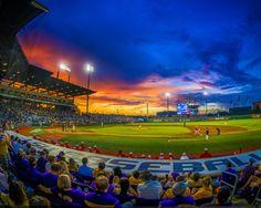 Sunset at Alex Box Stadium Picture at LSU Tiger Photos
