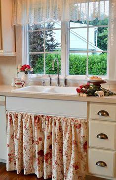 Easy To Open Kitchen Sink Farmhouse Skirt
