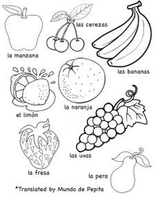 Multilingual Printables: Fruits and Vegetables in 7 Languages. From @MKBlogs