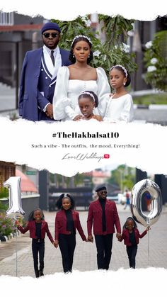 Hakeem Adeyinka Balogun, the founder of men's clothing brand King Hakbal and his wife celebrated their 10th wedding anniversary last week. Mens Clothing Brands, Men's Clothing, 10th Wedding Anniversary, Wedding News, Bridal Collection, Real Weddings, King, Celebrities, Baby