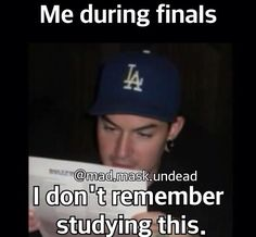 When Finals are coming up #HollywoodUndead